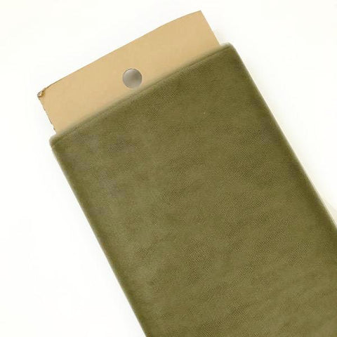 "Olive green 54"" tulle fabric / 1-5 yards - MAE Inspirations"