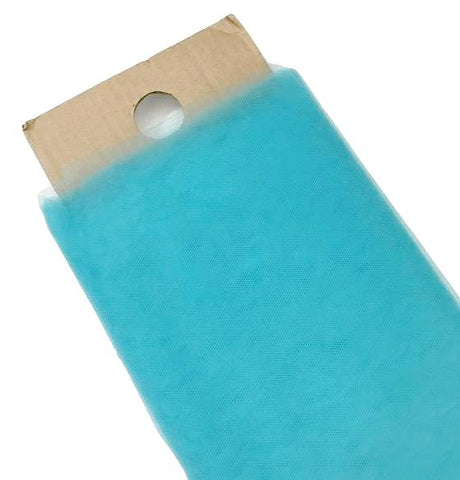 "Turquoise blue 54"" tulle fabric / 1-5 yards"