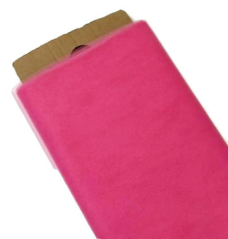 "Hot pink 54"" tulle fabric / 1-5 yards"