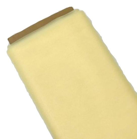 "Light yellow 54"" tulle fabric / 1-5 yards"
