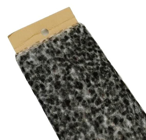 "Leopard 54"" printed tulle fabric / 1-3 yards"