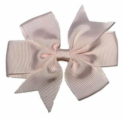 "Baby pink 3"" pinwheel grosgrain bow - MAE Inspirations"