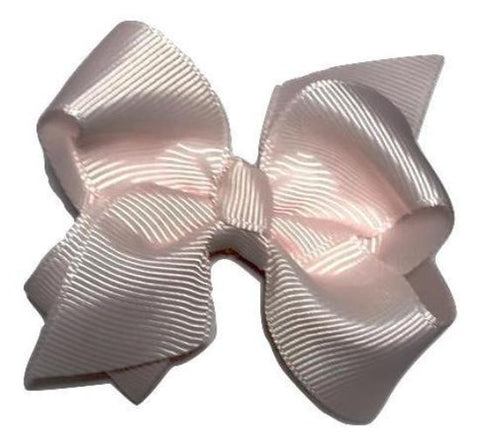 "Baby pink 3.3"" butterfly boutique grosgrain bow - MAE Inspirations"