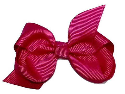 "Azalea rose 3.3"" butterfly boutique grosgrain bow - MAE Inspirations"