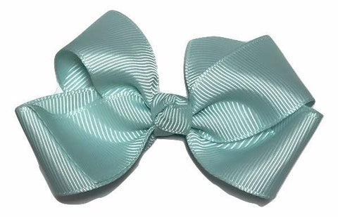 "Aqua blue 3.3"" butterfly boutique grosgrain bow - MAE Inspirations"