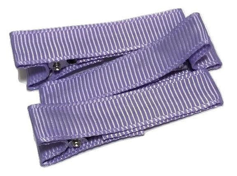 "Lilac partially lined alligator clips 1.8"" - MAE Inspirations"