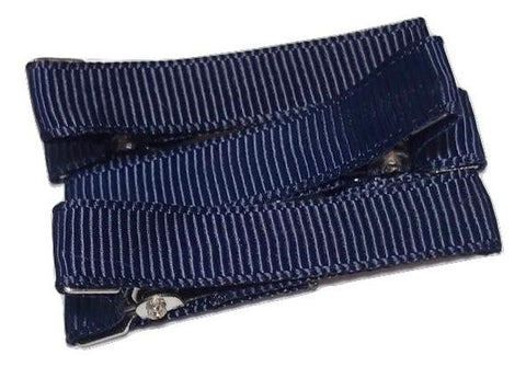 "Navy blue partially lined alligator clips 1.8"" - MAE Inspirations"
