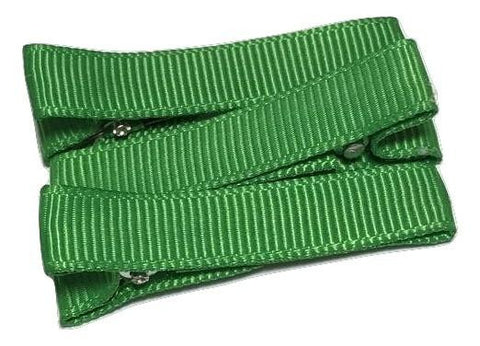 "Emerald green partially lined alligator clips 1.8"" - MAE Inspirations"