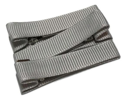 "Gray partially lined alligator clips 1.8"" - MAE Inspirations"