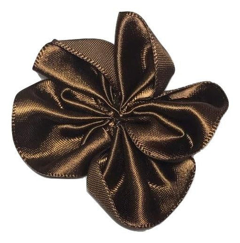 "Brown 1.5"" satin petal flower - MAE Inspirations"
