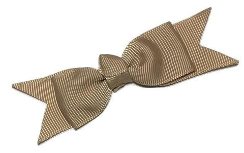 "Beige 3"" grosgrain boutique bow tie w/ tails - MAE Inspirations"
