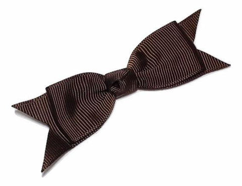 "Brown 3"" grosgrain boutique bow tie w/ tails - MAE Inspirations"