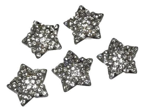 21mm 4th of July star metal rhinestone flat back button - MAE Inspirations