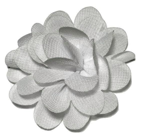 "White 2"" mini chiffon flowers - MAE Inspirations"