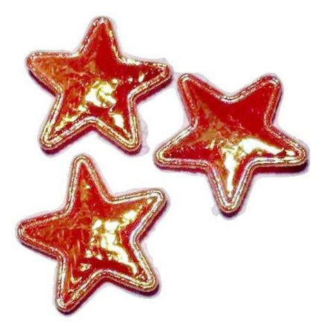 Orange iridescent star 15mm padded appliqué - MAE Inspirations