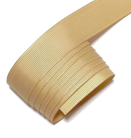 "Pale gold 7/8"" grosgrain ribbon - MAE Inspirations"