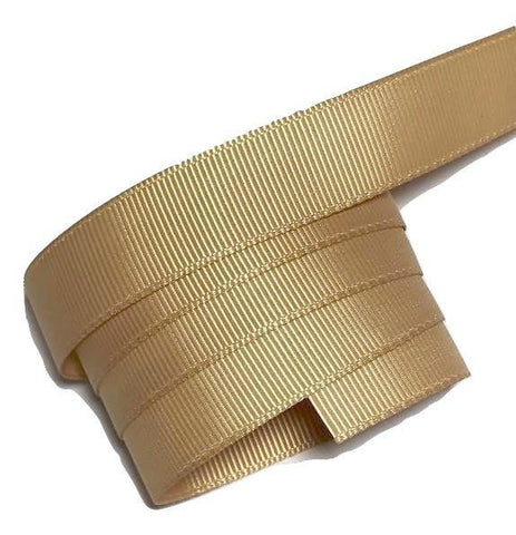 "Pale gold 5/8"" grosgrain ribbon - MAE Inspirations"