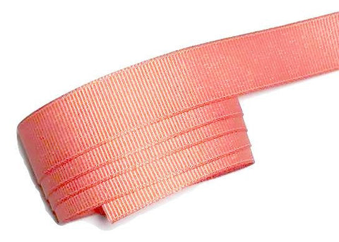 "Coral 5/8"" grosgrain ribbon - MAE Inspirations"