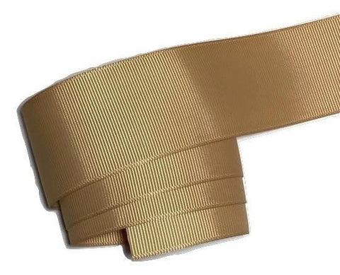 "Pale gold 1.5"" grosgrain ribbon - MAE Inspirations"