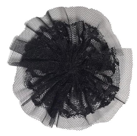 "Black 4"" lace tulle mesh ballerina flower - MAE Inspirations"