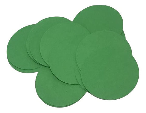 "Emerald green 2"" circle card stock paper confetti - MAE Inspirations"