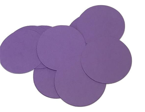 "Purple 2"" circle card stock paper confetti - MAE Inspirations"