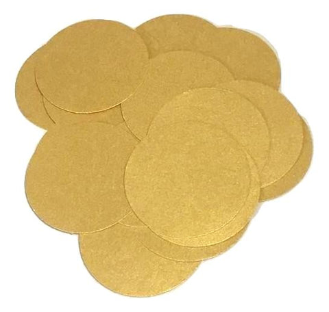 "Metallic gold 2"" circle card stock paper confetti - MAE Inspirations"
