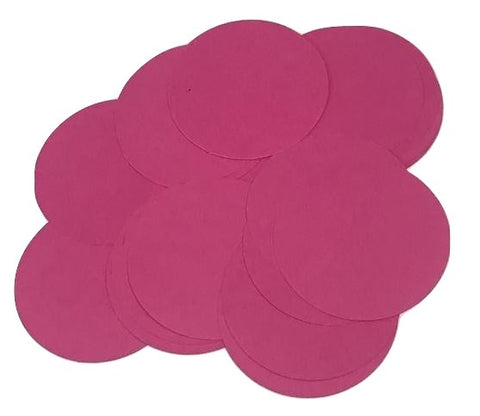 "Dark pink 2"" circle card stock paper confetti - MAE Inspirations"