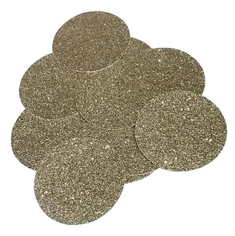 "Gold glitter 2"" circle card stock paper confetti - MAE Inspirations"