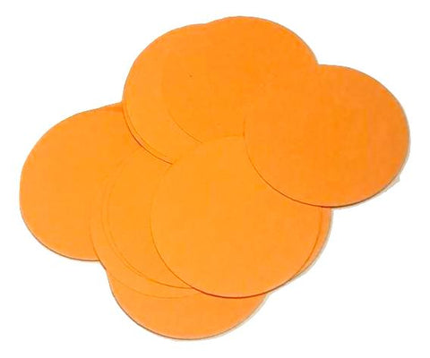 "Neon orange 2"" circle card stock paper confetti - MAE Inspirations"