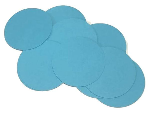 "Turquoise blue 2"" circle card stock paper confetti - MAE Inspirations"