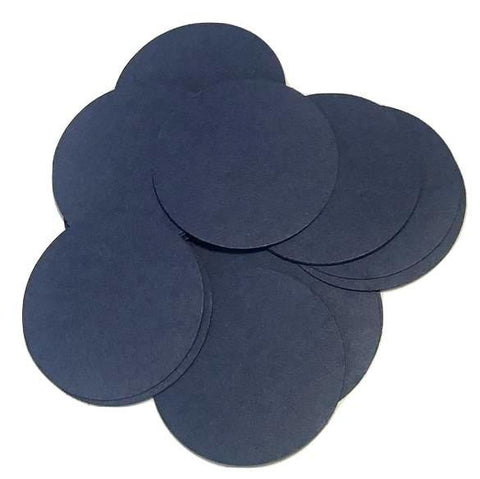 "Navy blue 2"" circle card stock paper confetti - MAE Inspirations"