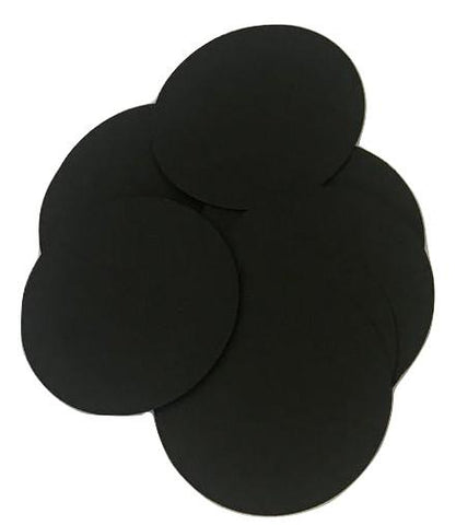 "Black 2"" circle card stock paper confetti - MAE Inspirations"