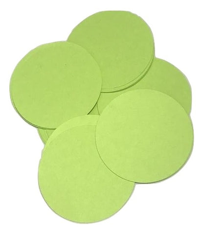 "Lime green 2"" circle card stock paper confetti - MAE Inspirations"
