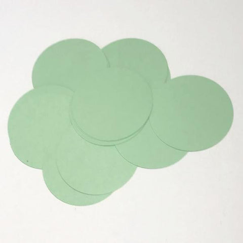 "Mint green 2"" circle card stock paper confetti - MAE Inspirations"