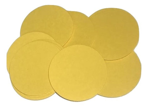 "Golden yellow 2"" circle card stock paper confetti - MAE Inspirations"