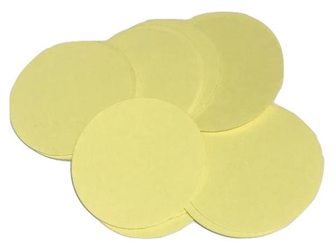 "Light yellow 2"" circle card stock paper confetti - MAE Inspirations"