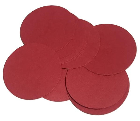 "Red 2"" circle card stock paper confetti - MAE Inspirations"