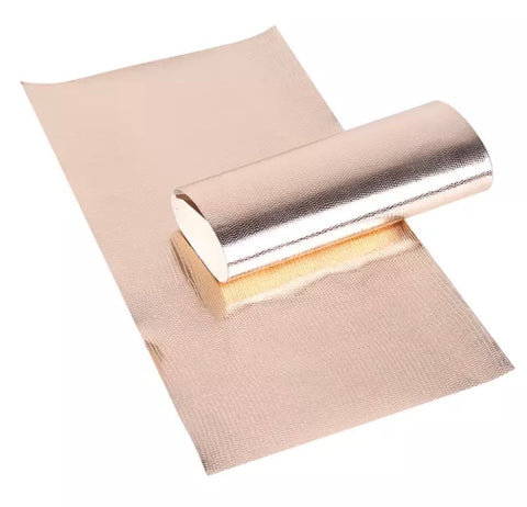 Metallic rose gold snake skin textured faux leather fabric sheet - MAE Inspirations