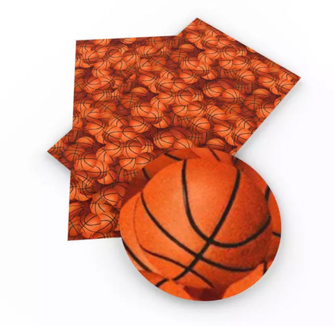 Basketball faux leather fabric sheet - MAE Inspirations