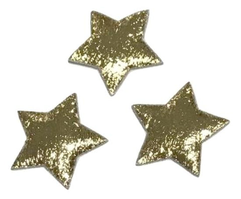 Metallic gold star 18mm padded appliqué