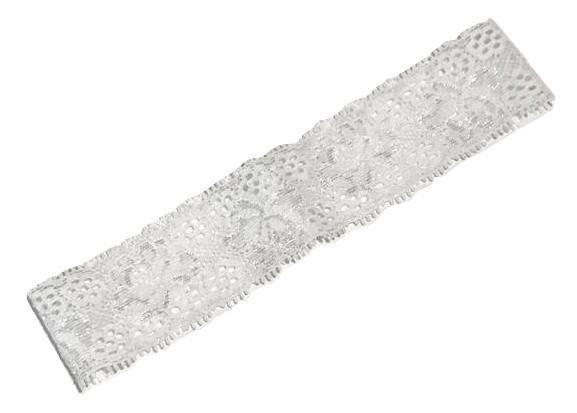"White 1 3/8"" lace headband - MAE Inspirations"