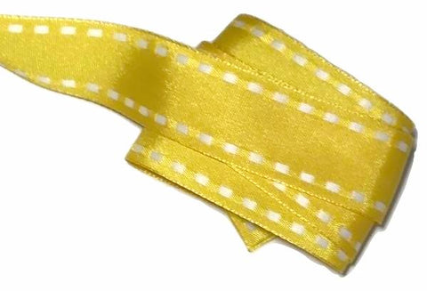 "Yellow saddle stitched 1"" grosgrain ribbon - MAE Inspirations"