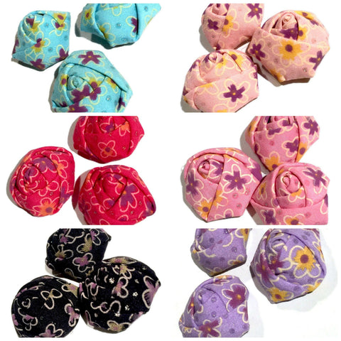 "GRAB BAG 1.5"" floral printed rolled rosette flowers / 2-20 pieces - MAE Inspirations"