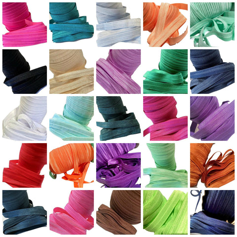 "GRAB BAG 5/8"" fold over elastic FOE / 5-80 yards - MAE Inspirations"