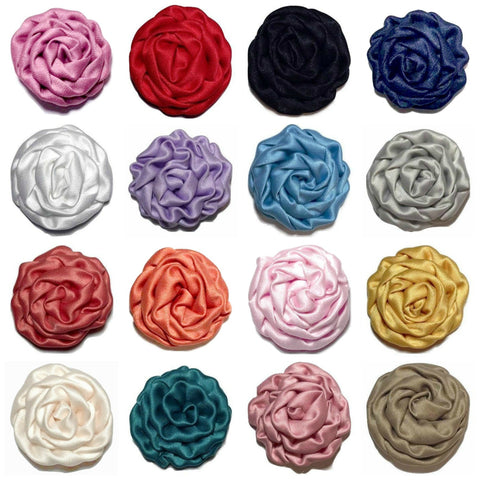 "GRAB BAG 1.5"" satin rolled rosette / 5-30 pieces - MAE Inspirations"