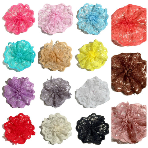 "GRAB BAG 1.8"" scalloped lace ballerina flower / 5-20 flowers - MAE Inspirations"