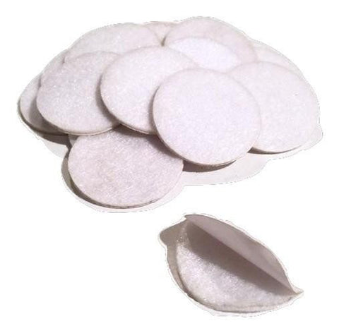 "1.5"" white ADHESIVE felt circles / 10-25 pieces - MAE Inspirations"