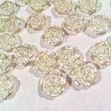 12mm Ivory flower shaped flat back pearls - MAE Inspirations