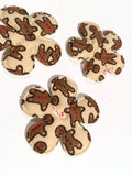 Gingerbread man Christmas flower padded felt appliqués - MAE Inspirations
